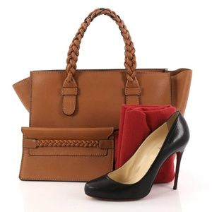 Valentino TBC (To Be Cool) Cognac Leather Tote